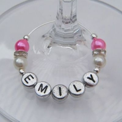 Personalised Name Wine Glass Charms - Elegance Style